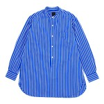 maillot wide stripe stand long shirts / military cloth easy baker pants