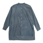 TOUJOURS Kurta Shirt / Border Cut-sew / Suspender