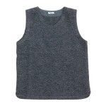 maillot melton U neck vest / 【再入荷】 border drop shoulder T-shirt