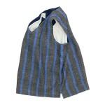 maillot linen wool pull vest STRIPE / melton V neck vest / b.label cotton melton wide easy pants