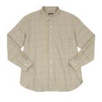 maillot mature twill check regular shirts  / twill check pull over stand shirts