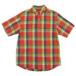 nisica 半袖ボタンダウンシャツ チェック / 半袖デッキマンシャツ オックス