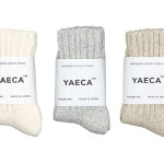 YAECA COTTON SILK SOCKS TOP COLOUR