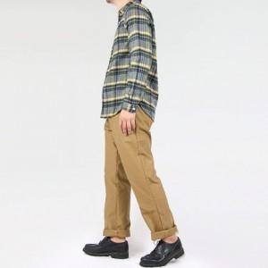 maillot sunset flannel check shirts GRAYを使った着こなしコーディネート
