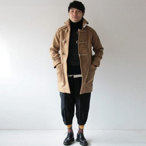TATAMIZE DUFFLE COAT CAMELを使ったファッションコーディネート・着こなし