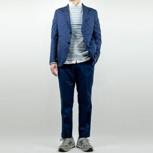maillot b.label indigo cotton jacket