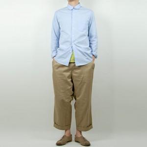 MUYA 100/2 アトリエシャツ SAXを使ったファッションコーディネート・着こなし