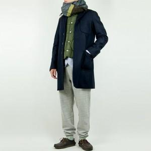 maillot b.label melton work coat NAVY