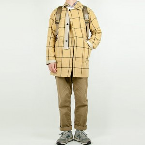 TATAMIZE RV COAT BEIGE x YELLOW CHECK