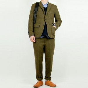 ENDS and MEANS Grandpa Wool Jacket OLIVEを使ったファッションコーディネート・着こなし