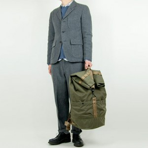 ENDS and MEANS Grandpa Wool Jacket GRAYを使ったファッションコーディネート・着こなし