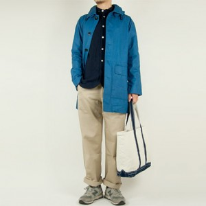 MHL. CONTRAST FACE COTTON COAT