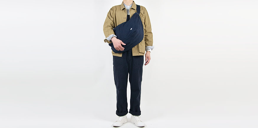 MHL. FADED COTTON TWILL OVERALLS 115NAVY〔メンズ〕