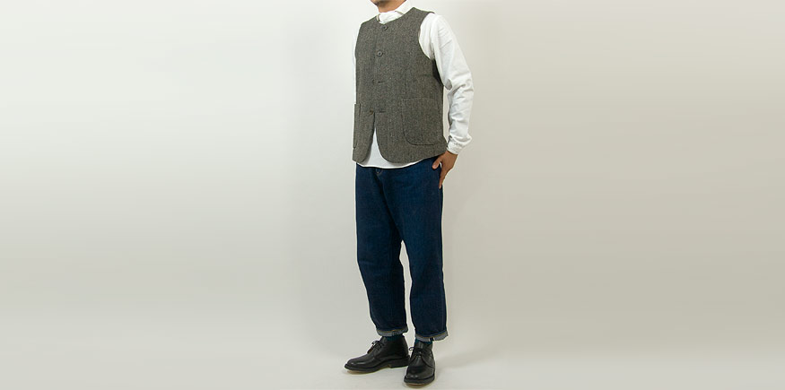 maillot mature cotton over coat KHAKI BEIGEを使ったコーディネート