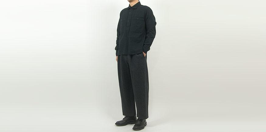 Charpentier de Vaisseau Bryan 2Tuck Pants GRAY x BLACK