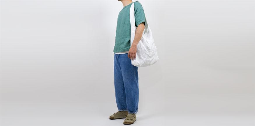 maillot linen shirts Tee SMOKE GREENを使ったファッションコーディネート・着こなし