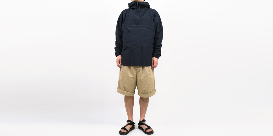 ENDS and MEANS Field Anorak BLACK