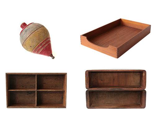 木製の箱などの古道具