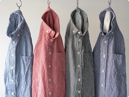 maillot Sunset B.D. gingham check shirts