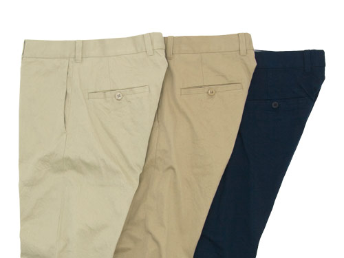 YAECA CHINO CLOTH PANTS color