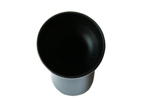 ブラックガラスの一輪挿し