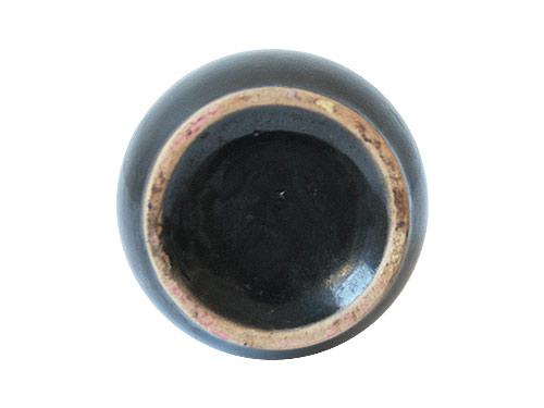 陶器の一輪挿し ブラック