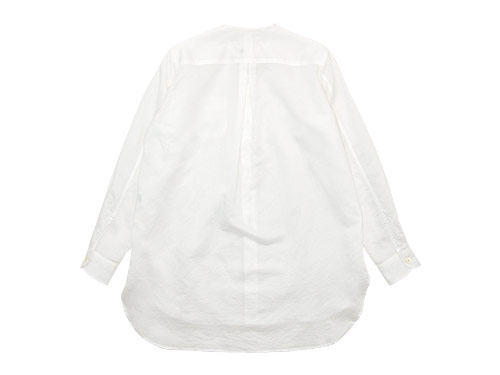 blanc no collar long shirts cotton ramie