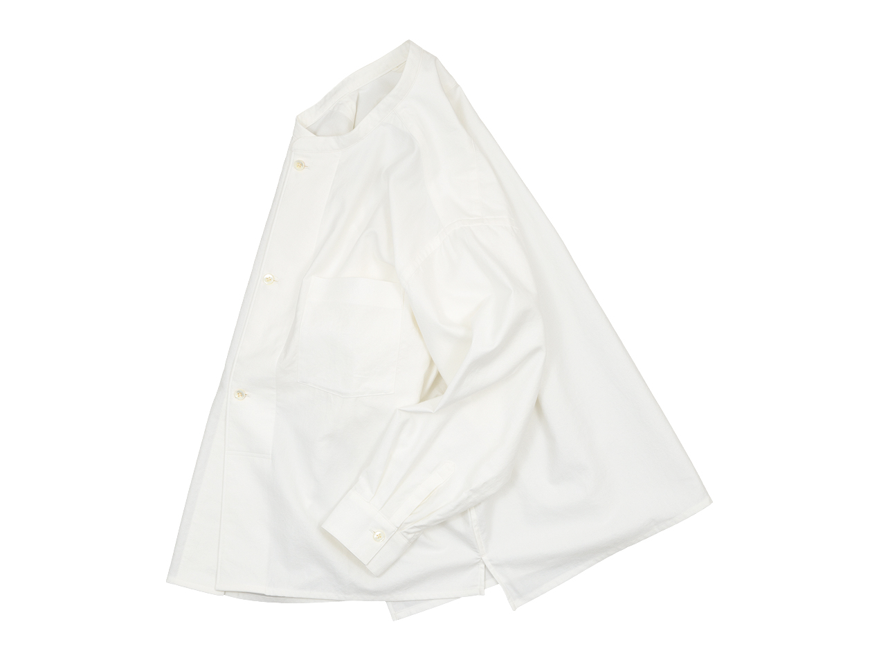blanc drawer shirts / no collar long shirts