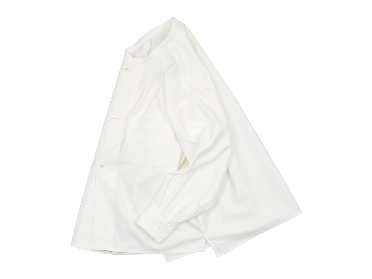 blanc drawer shirts / no collar long shirts