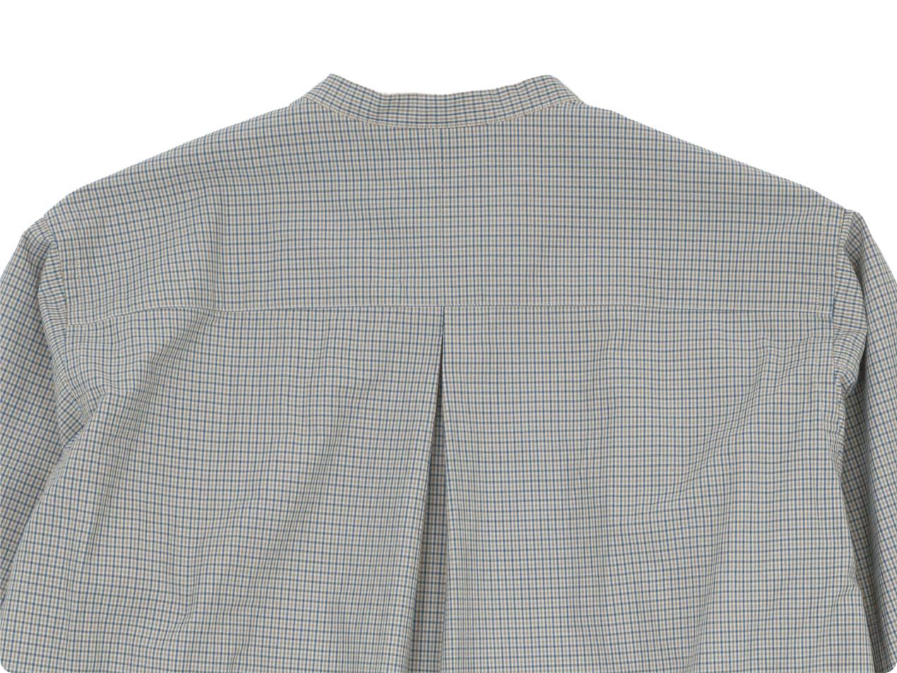 blanc no collar long shirts cotton