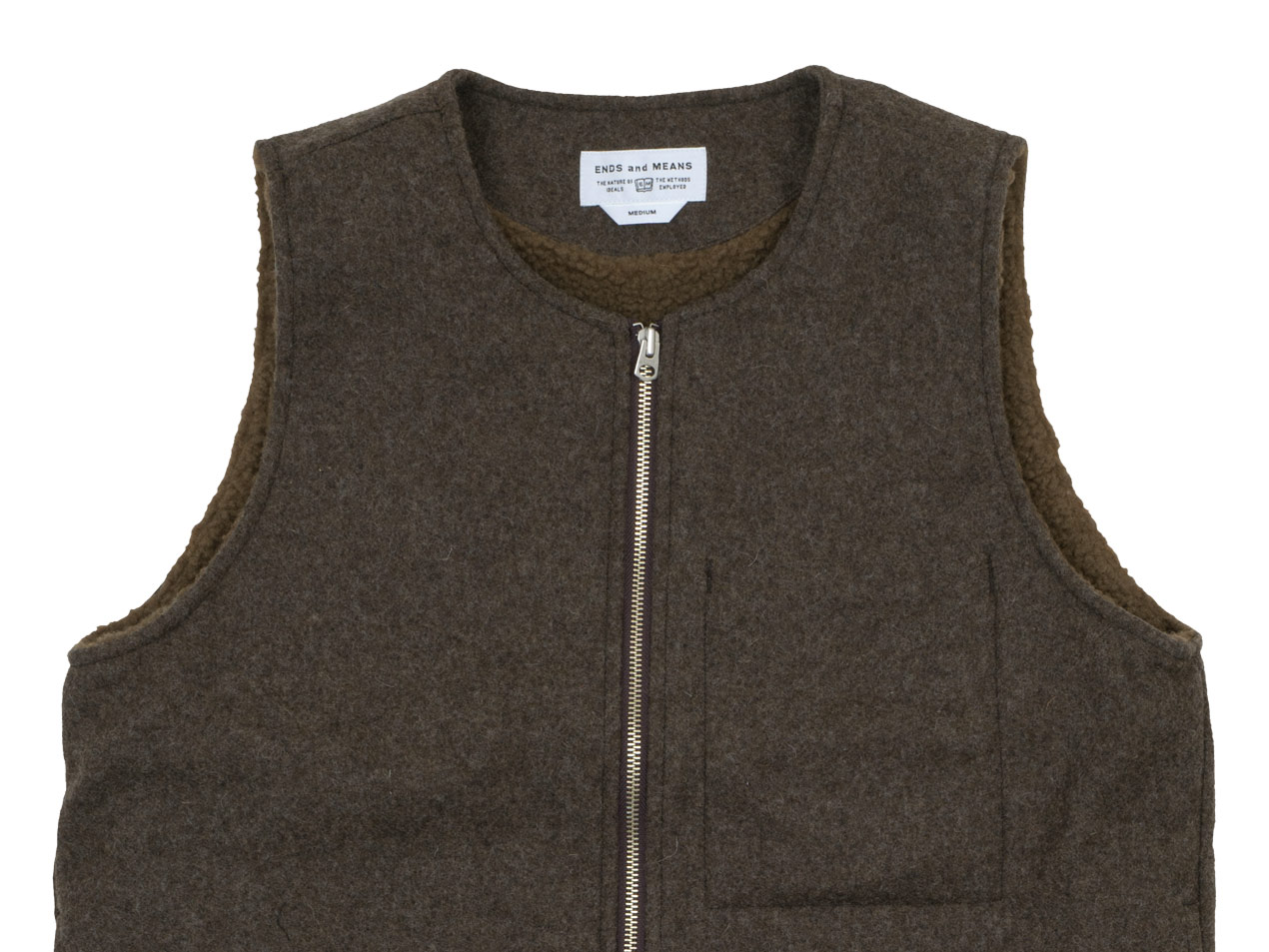 ENDS and MEANS Wool Boa Vest