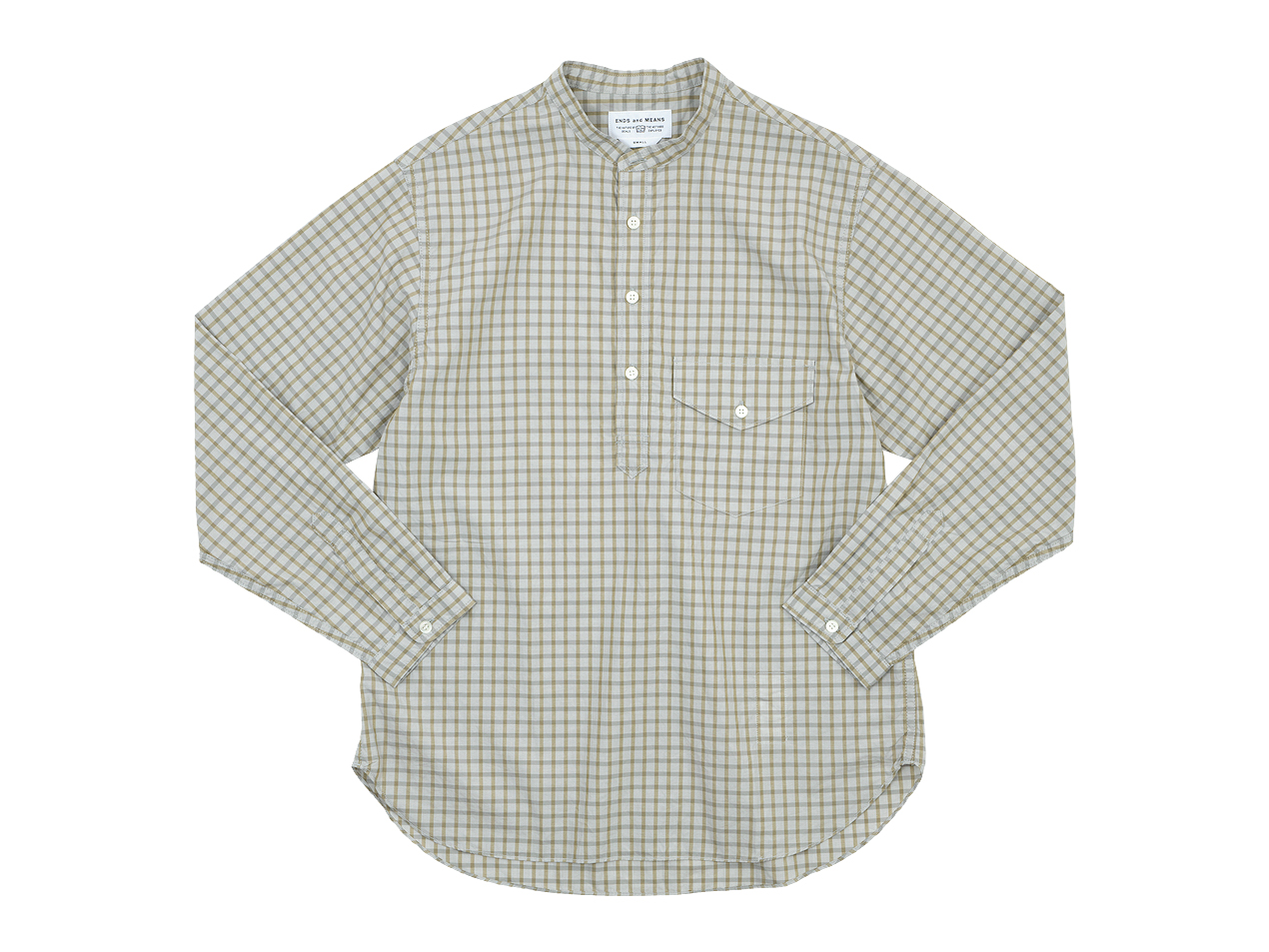 ENDS and MEANS Band Collar P/O Shirts / Field Anorak