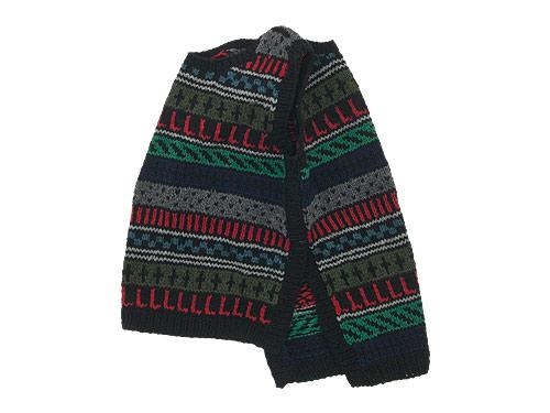 homspun ジャガード 手編みベスト / 40/-丸胴テレコ プルオーバー