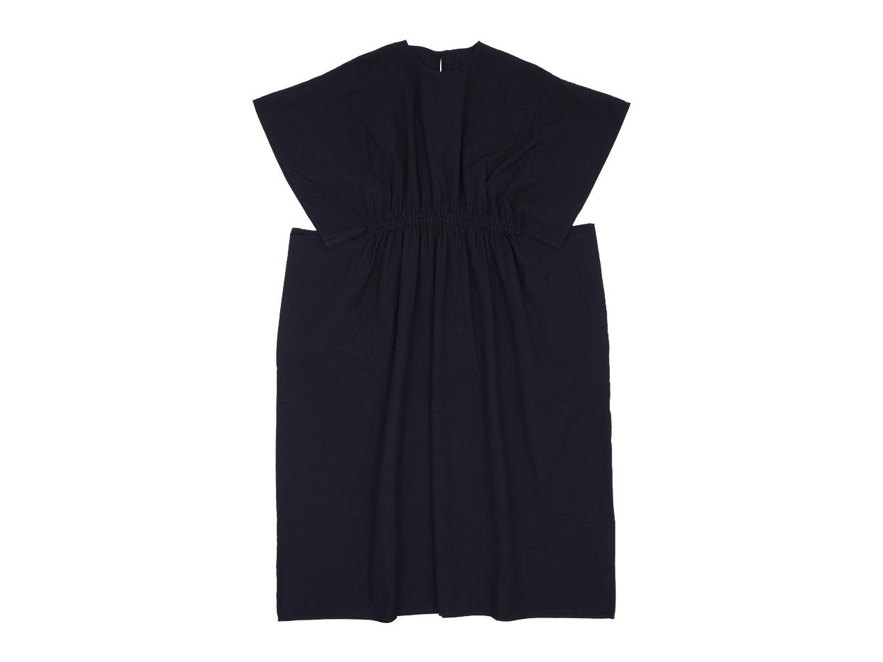 homspun 藍染 ワイドギャザー ロングワンピース / ギャザー ロングスカート