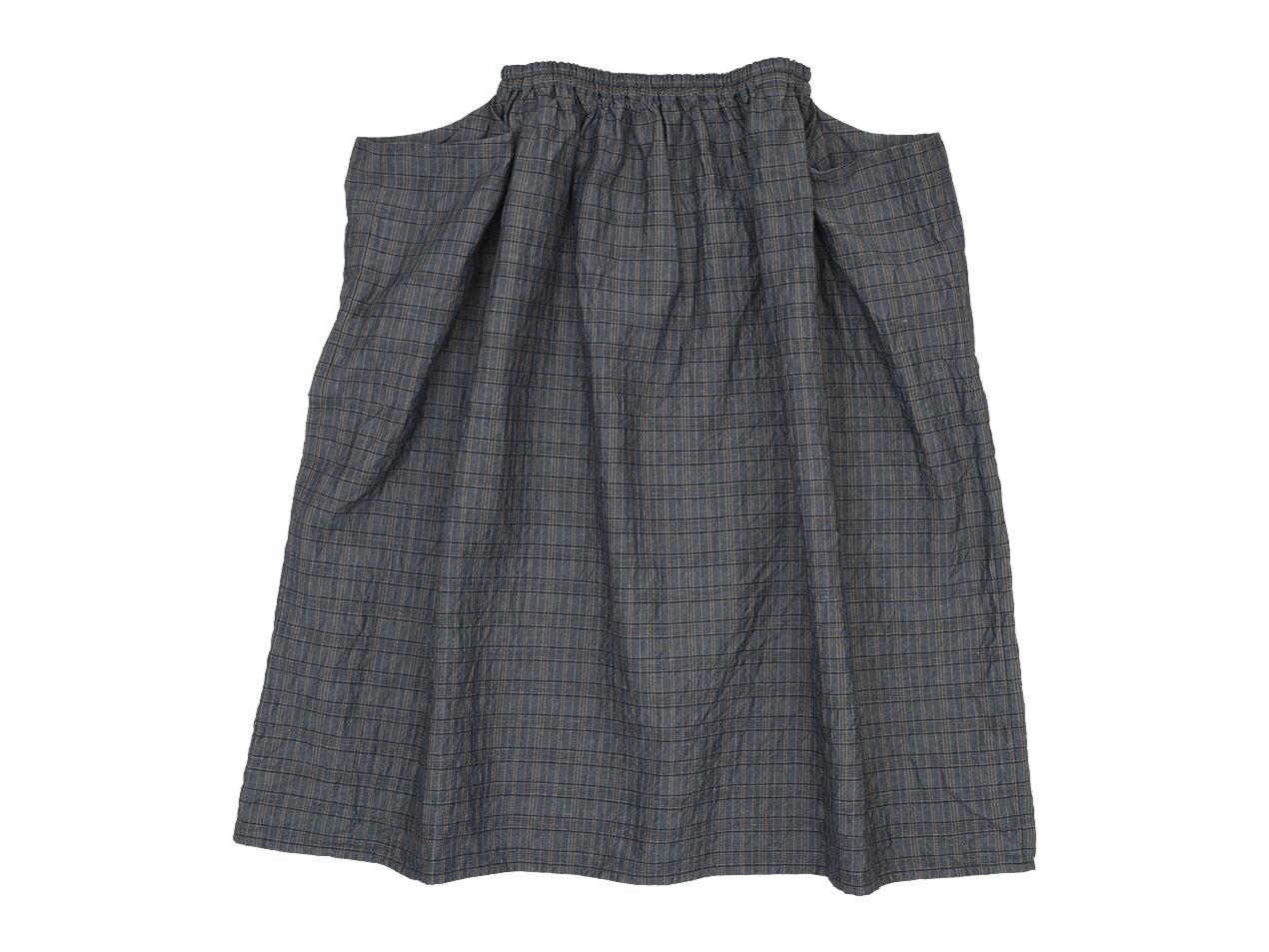 homspun コットンリネンチェック ギャザースカート