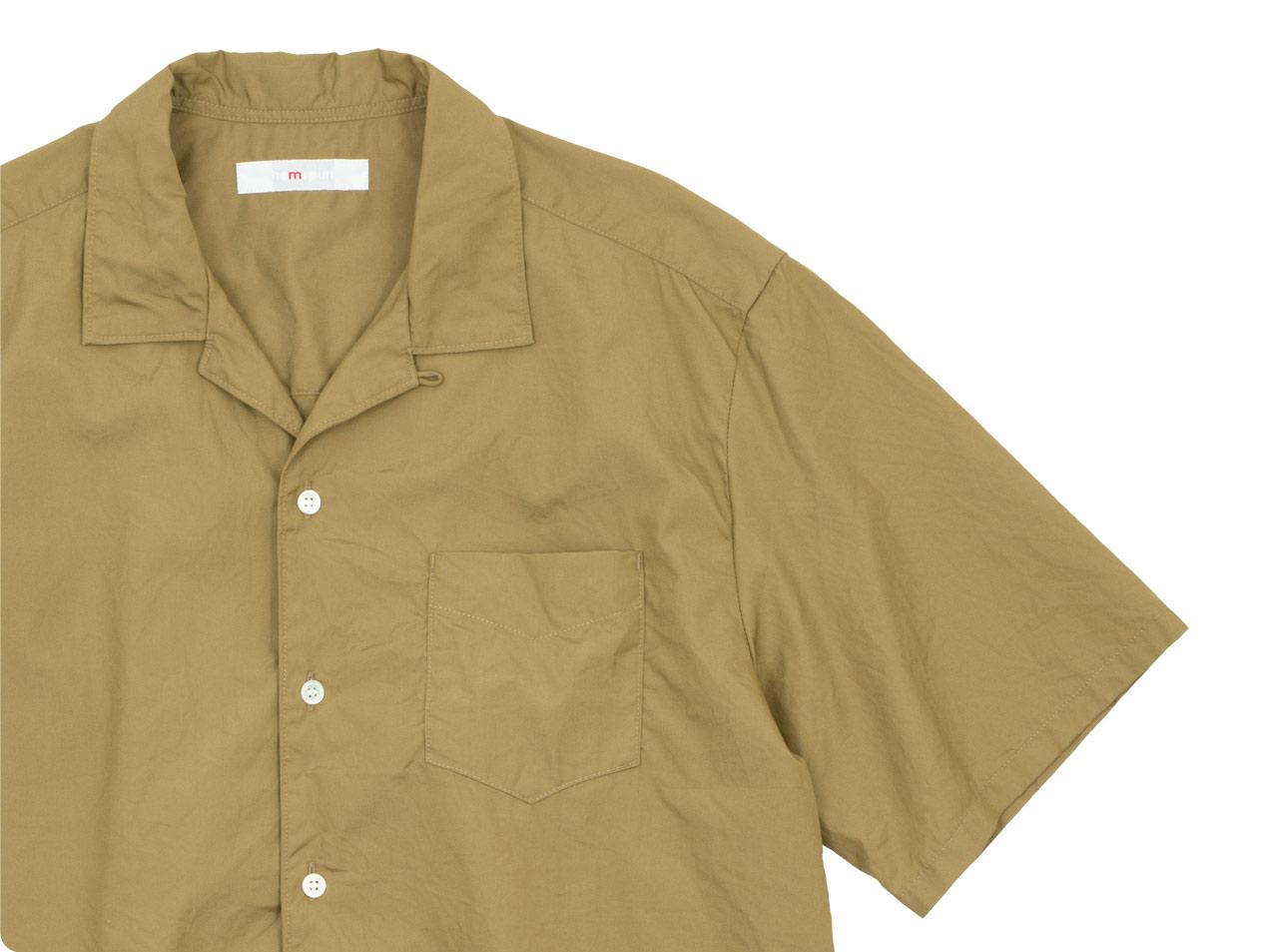 homspun 100/2ブロード オープンカラーシャツ