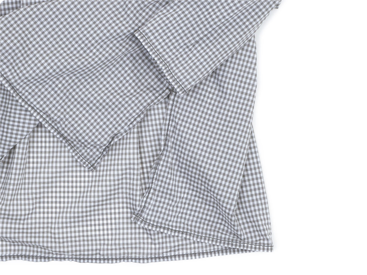 homspun 80/1ギンガム スタンドカラー プルオーバーシャツ