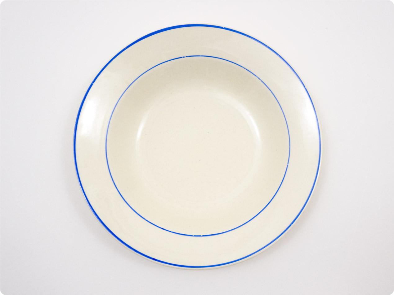 ARABIA ブルーライン スープ皿