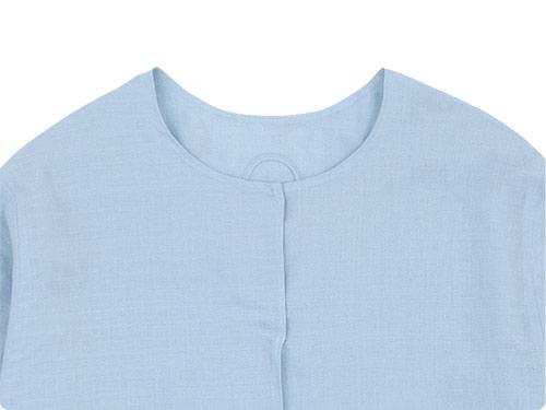 Lin francais d'antan Quellier(ケリエ) No Collar Shirts
