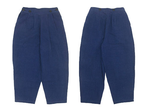 Lin francais d'antan Dermit(デルミット) Suspenders Tuck Pants