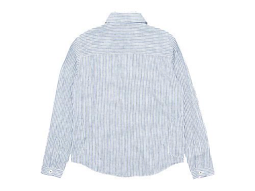 LOLO リネンプルオーバーシャツ ストライプ
