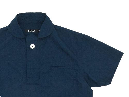 LOLO コットン半袖プルオーバーシャツ