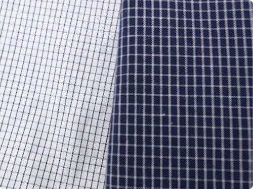 LOLO コットン半袖プルオーバーシャツ ミニグラフチェック