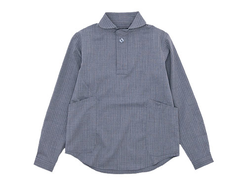 【再入荷】 LOLO ウールプルオーバーシャツ ストライプ
