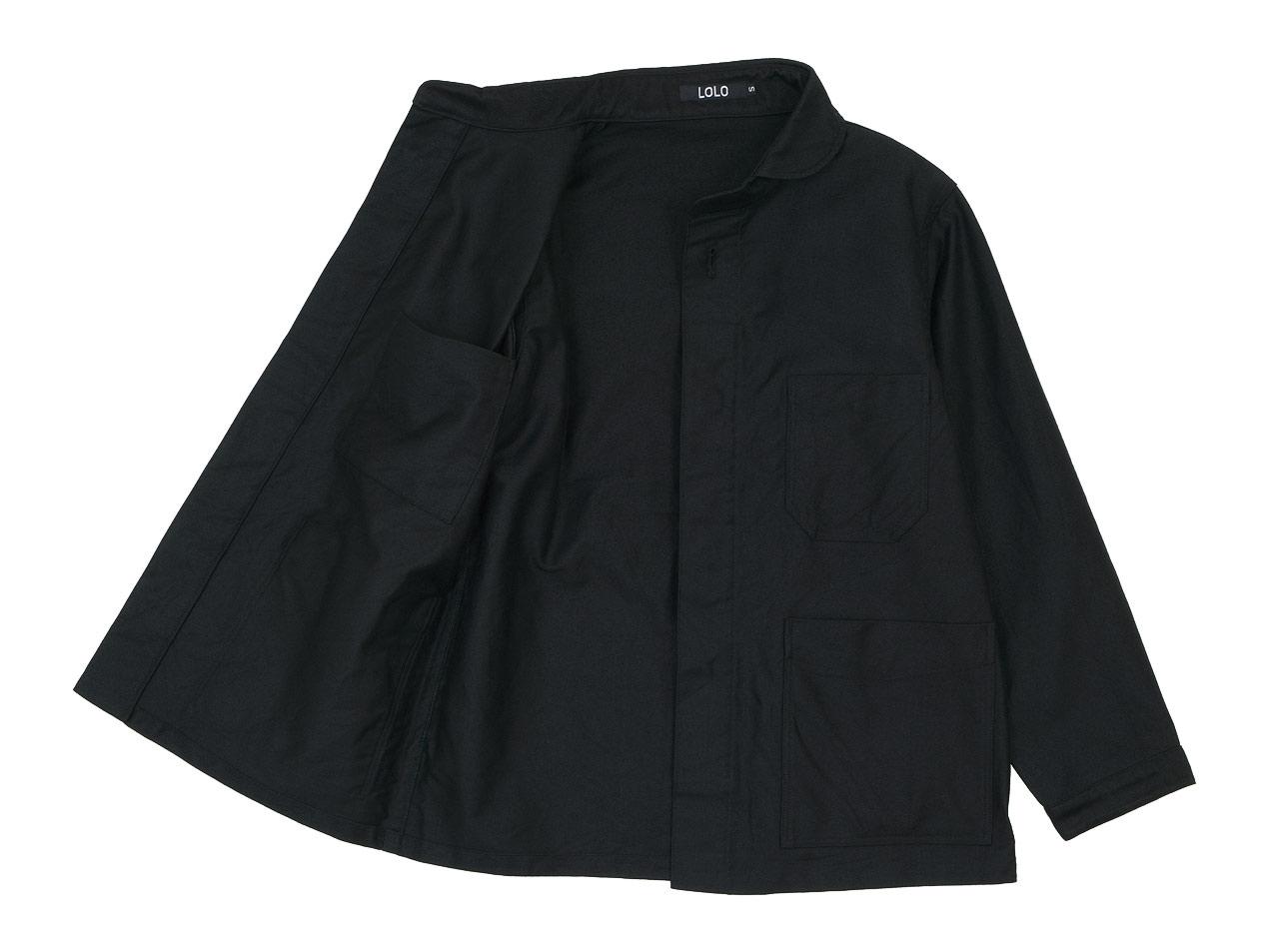 LOLO モールスキン 丸襟カバーオール