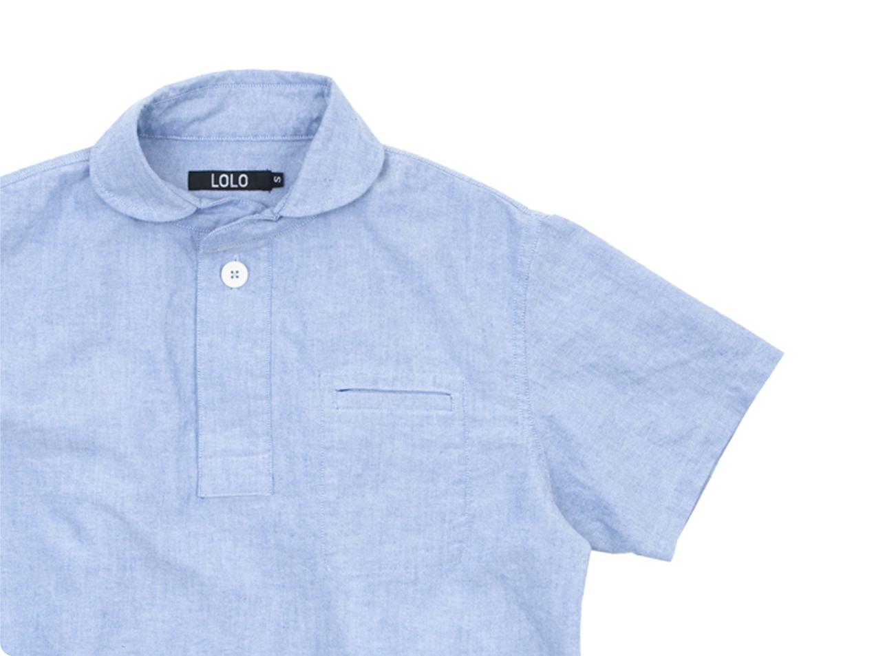 LOLO コットンプルオーバーシャツ 半袖