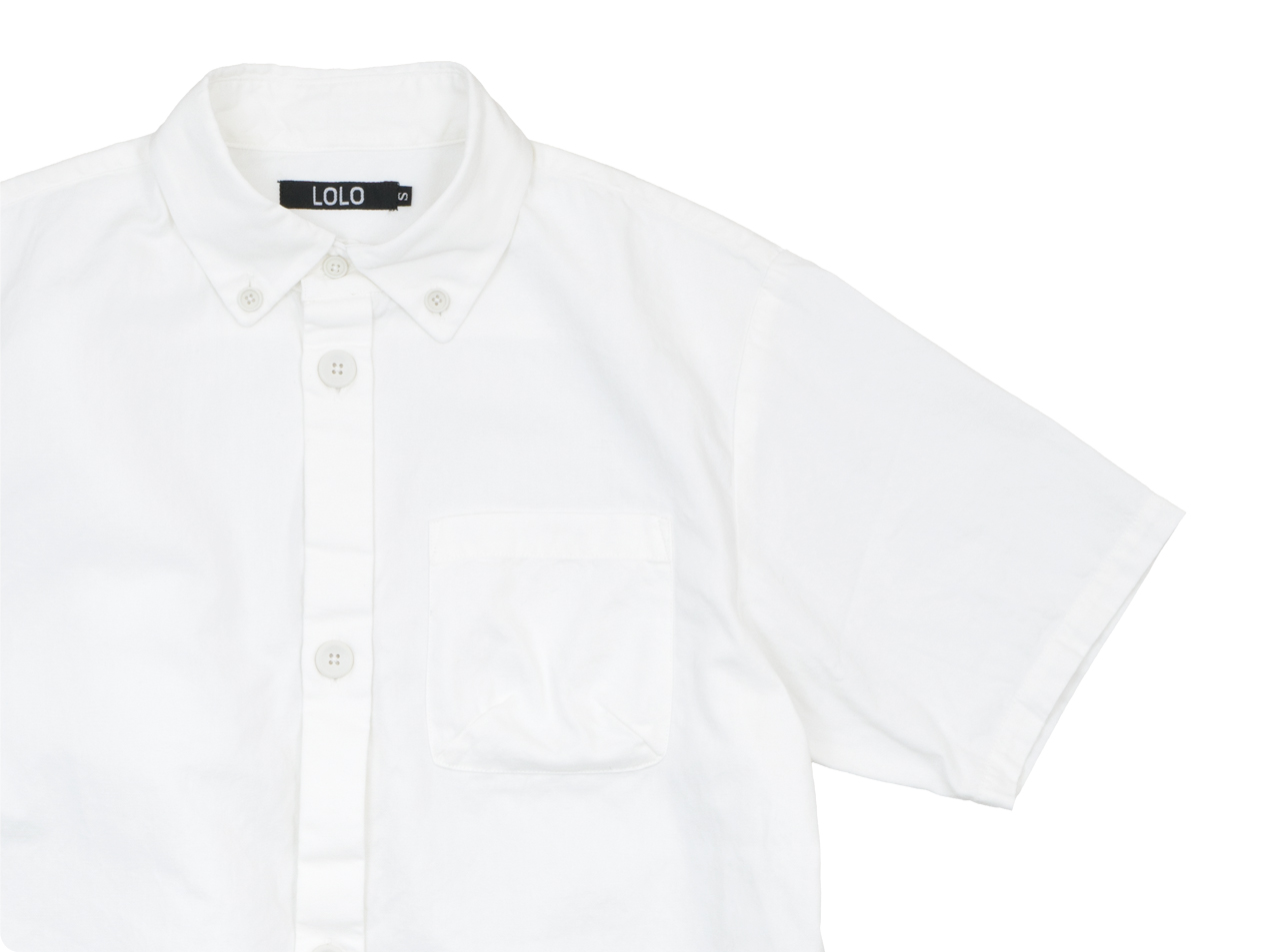 LOLO コットンボタンダウンシャツ 半袖