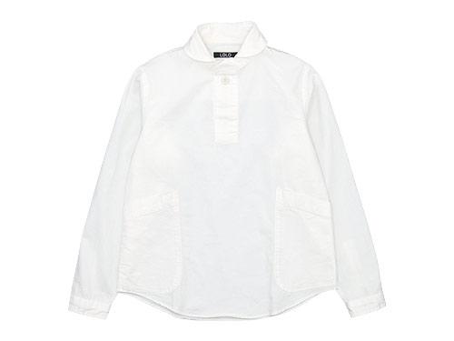 LOLO コットンプルオーバーシャツ / コットン比翼シャツ