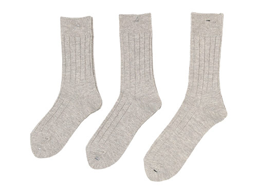 LUCKY SOCKS CLASSIC Pure Organic Cotton Rib Socks / Mix Sneaker Socks