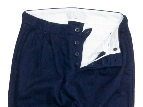 maillot C/W denim tuck tapered pants